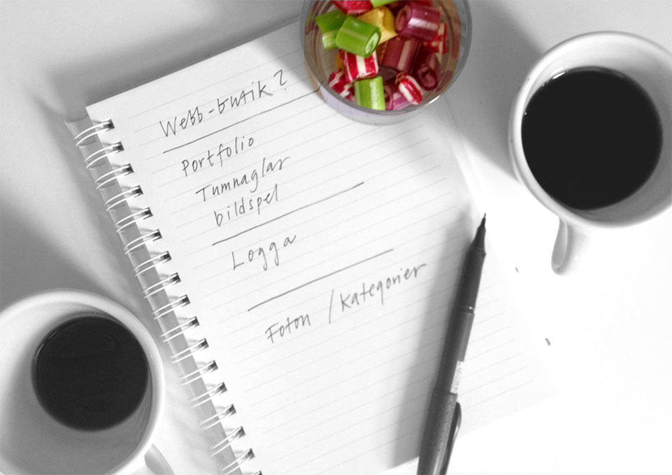 Webbduon, fika och planering