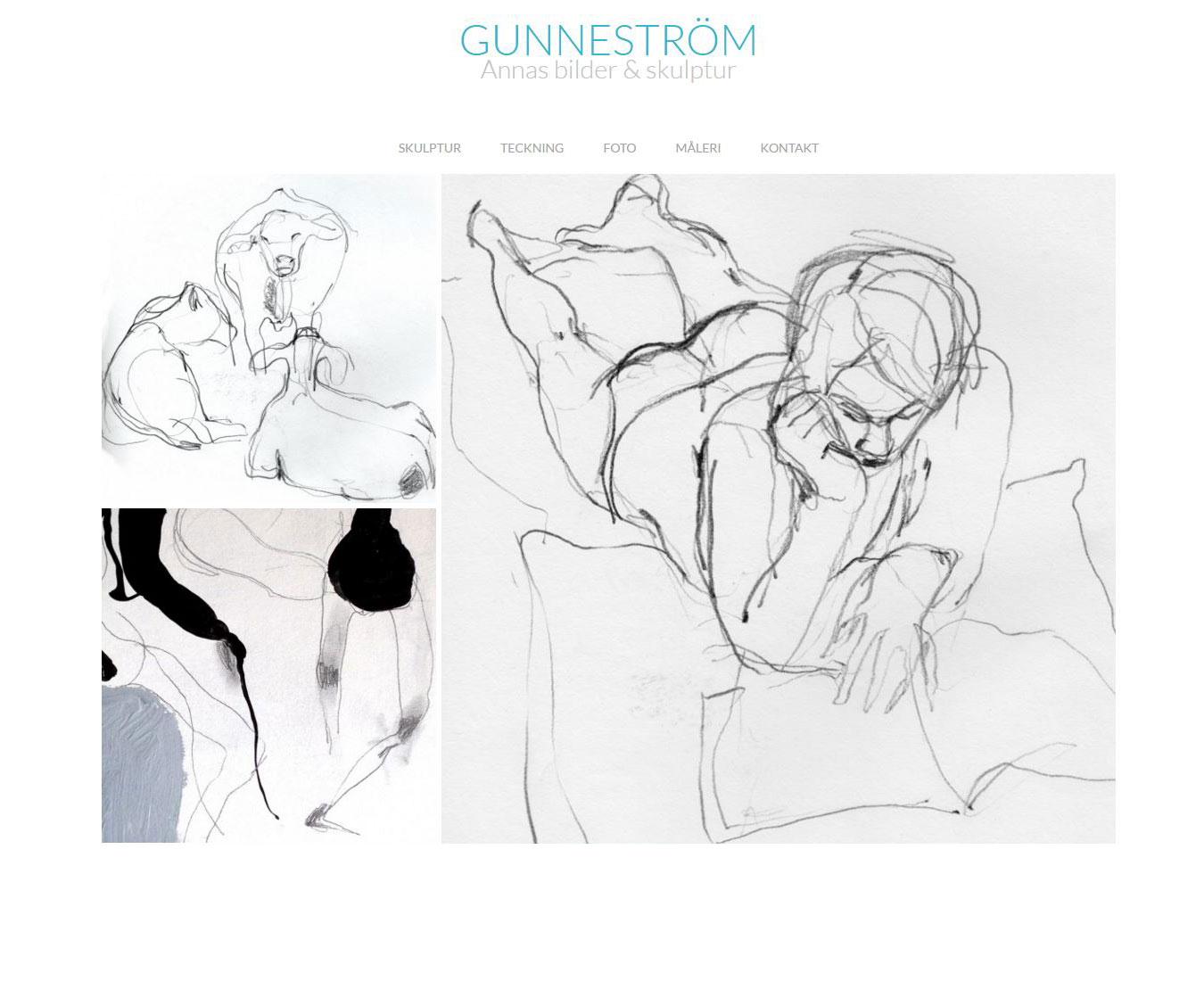 Gunneström.se, teckningar hemsida av webbduon